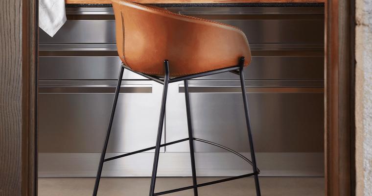Kave Home Barkruk 'Yvette' (zithoogte 74cm), kleur Bruin | 8433840520360