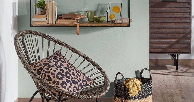 Kave Home Wandrek 'Elisha' 90cm, kleur Zwart | 8433840511139