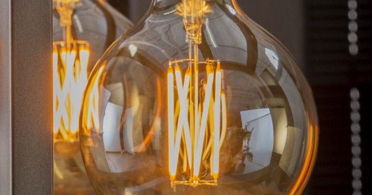Kooldraadlamp 'Bol XL' E27 LED 6W goldline Ø12,5cm, dimbaar | 8713244084676