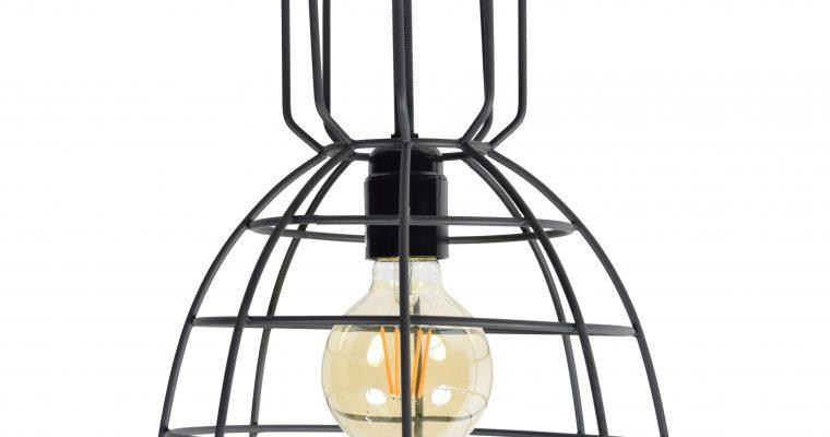 Urban Interiors plafondlamp 'Francis Large' Ø24, kleur Zwart | 8719325171914