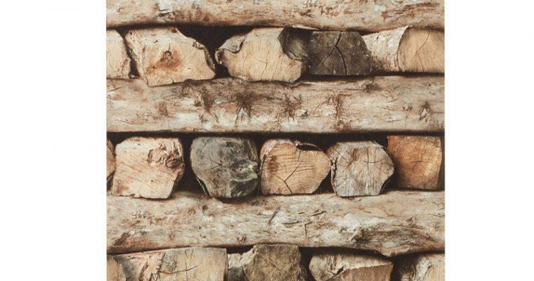 Behang Stor Bruin