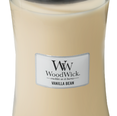 Woodwick Vanilla Bean kaars groot   93112E   Woodwick