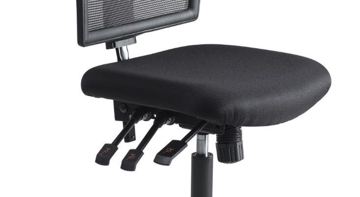 24Designs Bedrijfsstoel En Werkstoel Hoog – Mesh Zwart – Zithoogte 60 – 86 Cm – Zwart Onderstel | 8719874344036