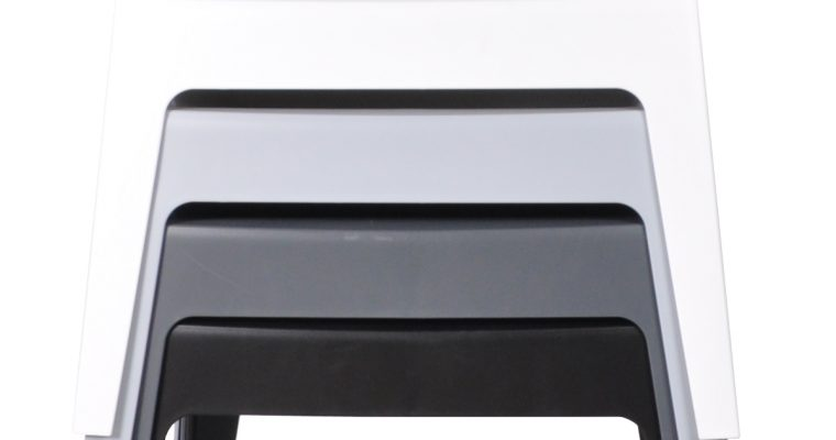 24Designs Box Stoel – Armleuning – Stapelbaar – Set Van 8 – Mixbundel   8718692427303