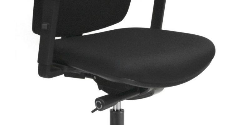 24Designs Bremen Economy Bureaustoel EN1335 – Stof Zwart – Zwart Onderstel | 8720195951322