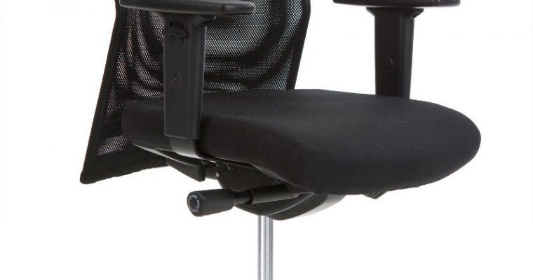 24Designs Bureaustoel Barcelona – Stof Zwart Netwave – Aluminium Gepolijst Voetenkruis | 8718692422940