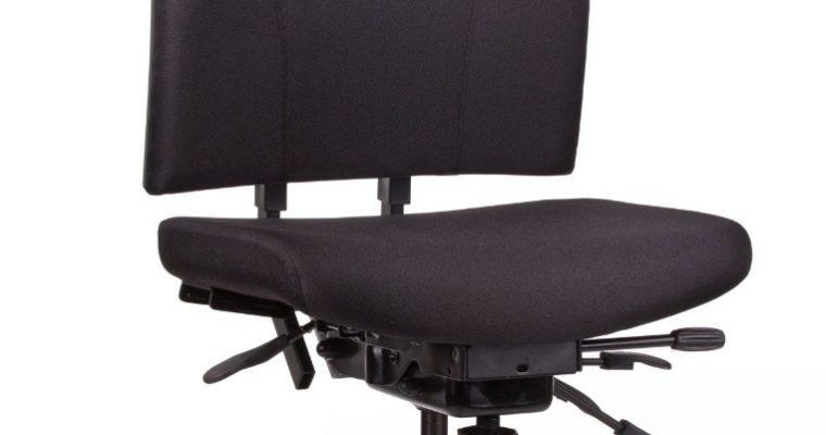 24Designs Preston Bureaustoel Zonder Armleuningen EN1335 – Stof Zwart – Zwart Onderstel | 8719323474826