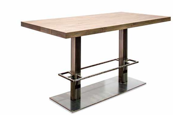 24Designs Hoge Eettafel Cross – L180 X B90 X H92 Cm – Massief Eiken Tafelblad – Industrieel Onderstel | 8719172345612