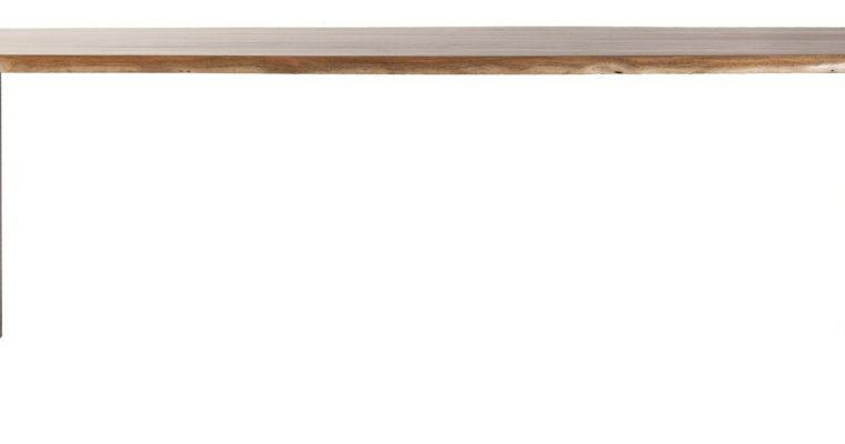 24Designs Lexington Eettafel – L300xB100xH76 Cm – Tafelblad Acacia Hout – Zwart Metalen Frame   8719087024930