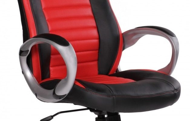 24Designs Racer2 Bureaustoel&Gamestoel – Kunstleer – Zwart/Rood | 8719874346320