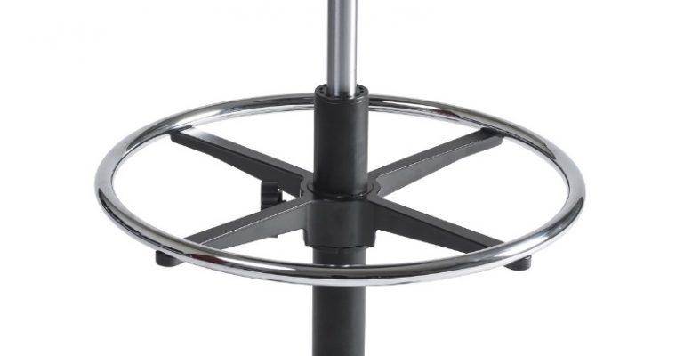 24Designs Tabouret Hoge Werkkruk PU Nylon – Verstelbare Zithoogte 53 – 79 Cm – Zwart | 8719874343923