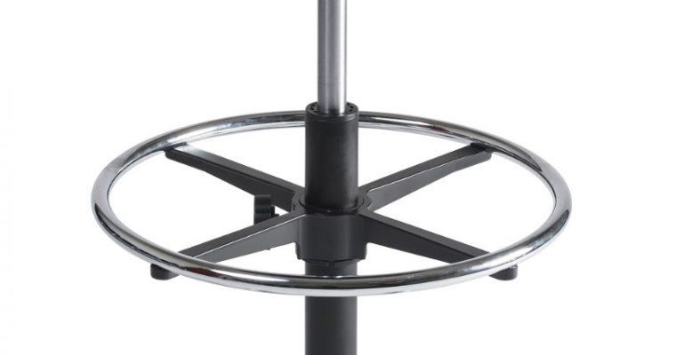 24Designs Tabouret Hoge Werkkruk PVC Alu – Verstelbare Zithoogte 57 – 83 Cm – Zwart | 8719874343831
