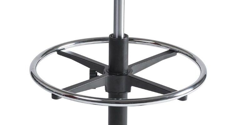 24Designs Tabouret Hoge Werkkruk PVC Nylon – Verstelbare Zithoogte 57 – 83 Cm – Zwart | 8719874343848