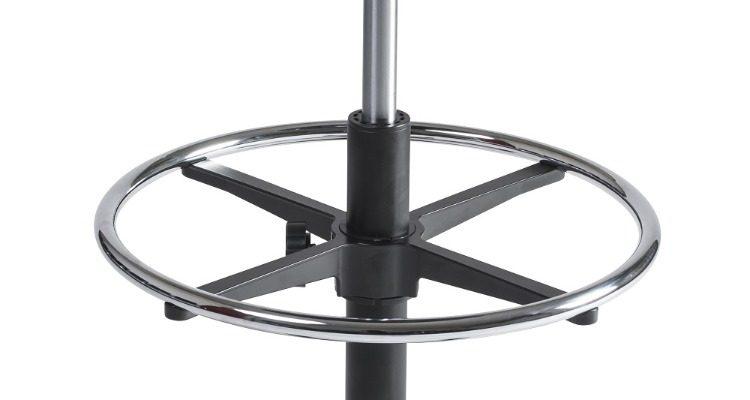24Designs Tabouret Hoge Werkkruk Stof Nylon – Verstelbare Zithoogte 57 – 83 Cm – Zwart | 8719874343886
