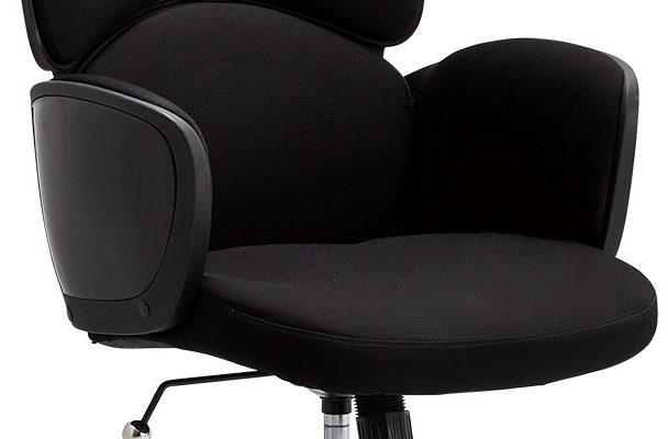 24Designs Turtle Bureaustoel – Stof – Metaal – Zwart | 8720195957140