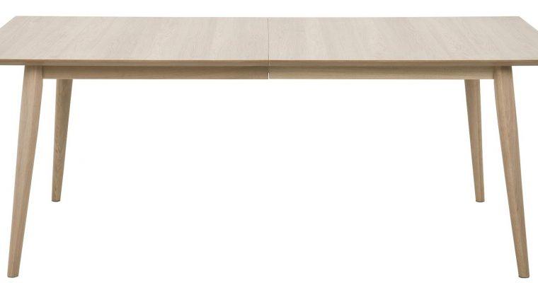24Designs Uitschuifbare Tafel Aalborg – L200/300 X B100 X H75 Cm – Eiken White Wash | 8719172344509