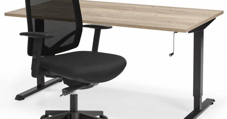 Complete ThuisWerkplek Aken – Verstelbaar Zit Sta Bureau Flex + Bureaustoel Aken | 8720195951728