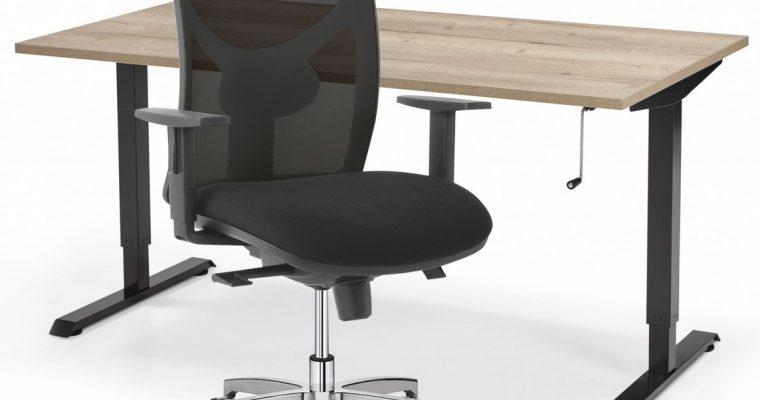 Complete ThuisWerkplek Sit1 Chroom – Verstelbaar Zit Sta Bureau Flex + Bureaustoel | 8720195951773