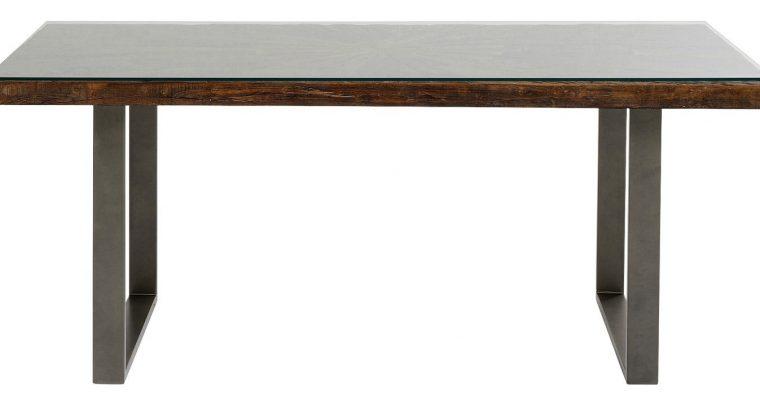 Kare Design Conley Eettafel L180 X B90 X H76 Cm – Tafelblad Hout – Grijze Stalen Poten | 4025621849322