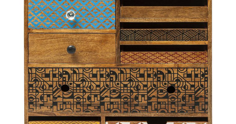 Kare Design Dressoir Soleil – 10 Laden – L70 X B30 X H90 Cm – Mangohout | 4025621801887
