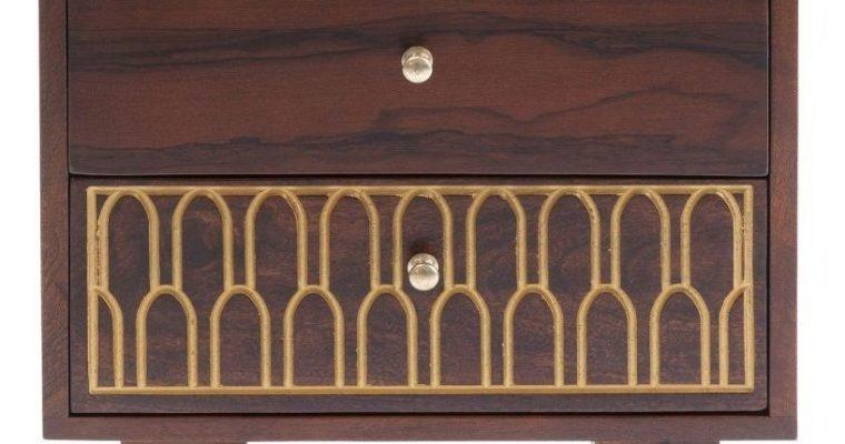 Kare Design – Ladekast Muskat Klein 2 Laden – B52 X D35 X H45 Cm – Mangohout Bruin  