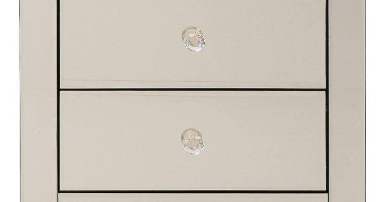 Kare Design Luxury Ladekast 2-Laden – B49xD41xH50 Cm – Spiegelglas Champagne   4025621838906