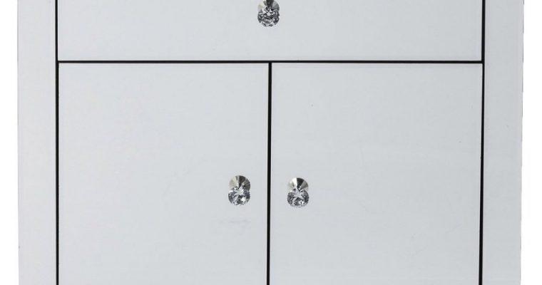 Kare Design Luxury Opbergkast 2-deuren/1-lade – B71xD41xH76 Cm – Spiegelglas   4025621822301