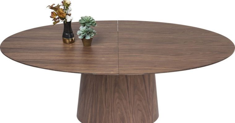 Kare Design Uitschuifbare Ovale Tafel Benvenuto – L200/250 X B110 X H75 Cm – Walnoot | 4025621808206