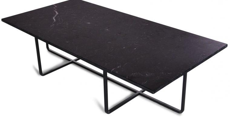OxDenmarq Salontafel Ninety – L120 X B60 X H30 – Zwart Marmer – Zwart Onderstel |