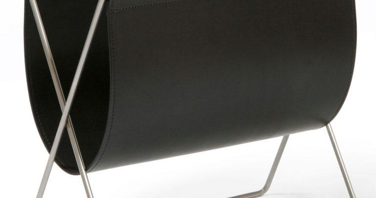 OxDenmarq Tijdschriftenrek Maggiz – Hoogte 42 Cm – Leer – Zwart |
