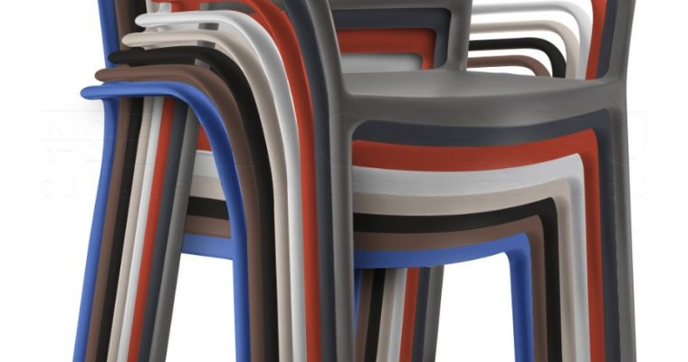 Pedrali Ara 315 Stoel – Armleuning – Stapelbaar – Set Van 8 – Mixbundel  