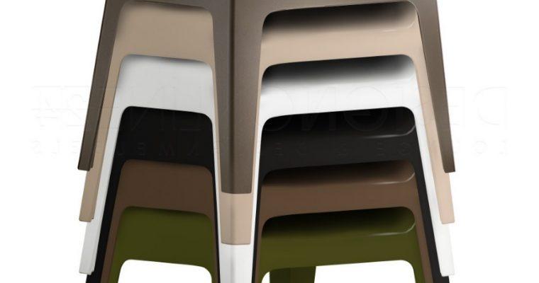 Pedrali Plus 630 Stoel – Stapelbaar – Set Van 4 – Mixbundel  