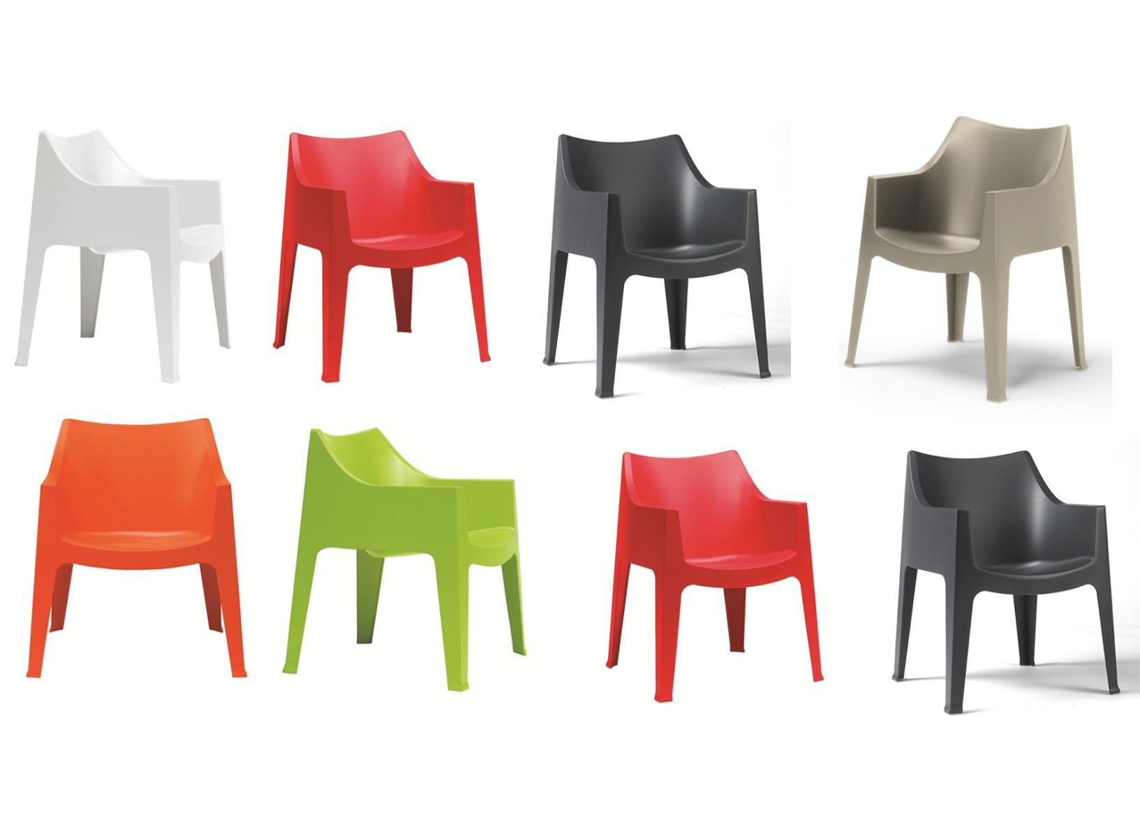 SCAB Design Coccolona Stoel – Stapelbaar – Set Van 8 – Mixbundel | 8718692429659