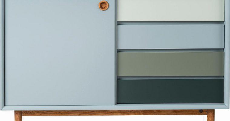 TOM TAILOR By Tenzo Color Box Dressoir 1-Deur/4-Laden – B114xD44xH80 Cm – Saliegroen | 8720195954378