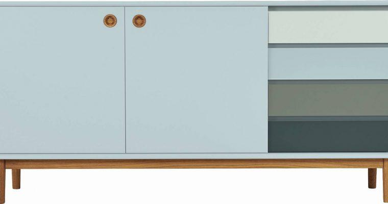 TOM TAILOR By Tenzo Color Box Dressoir 2-Deurs/4-Laden – B170xD44xH80 Cm – Saliegroen | 8720195954422