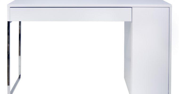 TemaHome Bureau Prado – B130xD60xH75 – Mat Wit – Chroom | 5603449052514