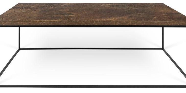 TemaHome Salontafel Gleam L120 X B75 X H40 Cm – Bruin/Roestkleurig Houten Tafelblad | 5603449626661