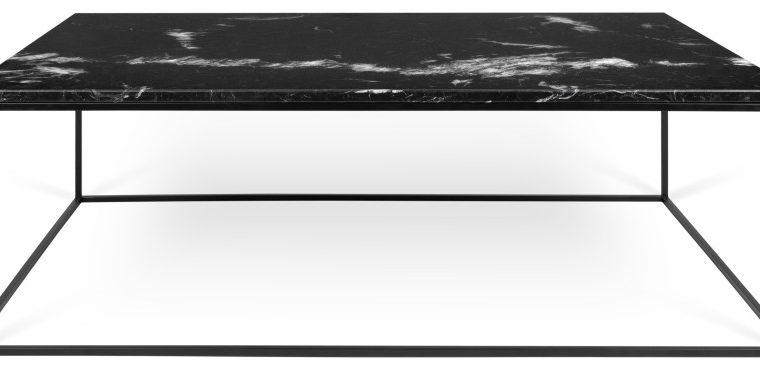 TemaHome Salontafel Gleam L120 X B75 X H40 Cm – Zwart Marmer – Zwart Metalen Onderstel | 5603449625992