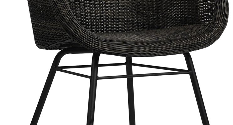 Vincent Sheppard Edgard Dining Chair – Wicker Tuinstoel – Grijs | 8720195953951