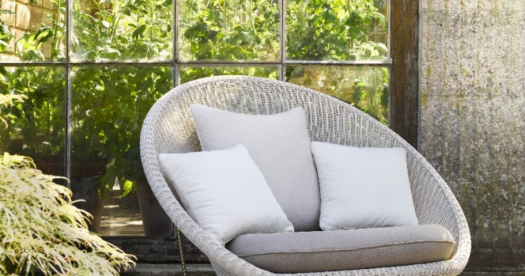 Vincent Sheppard Gipsy Outdoor Lounge Chair – RVS Onderstel – Zitting Old Lace   8720195954224