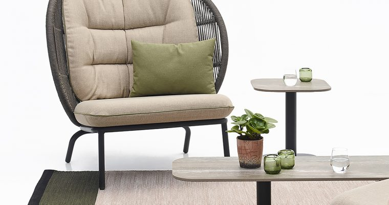 Vincent Sheppard Kodo Cocoon Fauteuil – Outdoor Lounge Chair – Beige – Inclusief Kussenset2 | 8720195953760