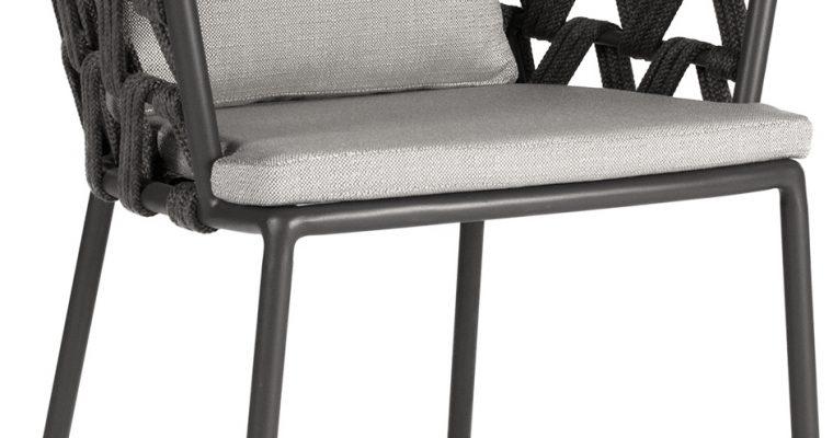Vincent Sheppard Leo Dining Chair Rope Tuinstoel – Lava Grijs – Actieset Inclusief Kussens | 8720195953630