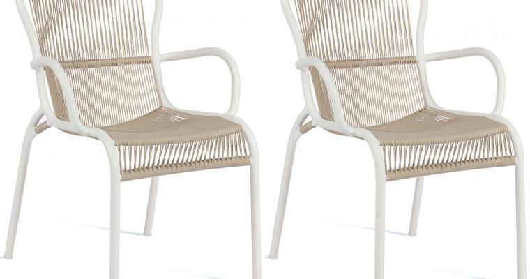 Vincent Sheppard Loop Dining Chair – Rope Tuinstoel – Set Van 2 – Beige | 8720195953524