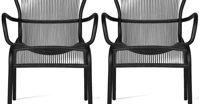 Vincent Sheppard Loop Dining Chair – Set Van 2 – Zwart | 8720195953470