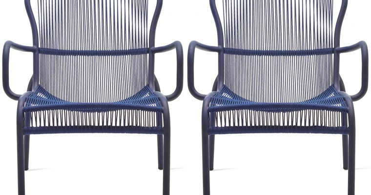 Vincent Sheppard Loop Rope Lounge Chair – Set Van 2 – Indigo Blauw | 8720195953418