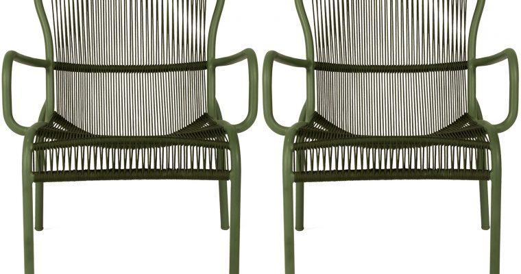 Vincent Sheppard Loop Rope Lounge Chair – Set Van 2 – Mosgroen | 8720195953401