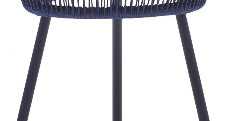 Vincent Sheppard Loop Rope Outdoor Bijzettafel – H51 XØ51 Cm – Indigo Blauw   8720195953340