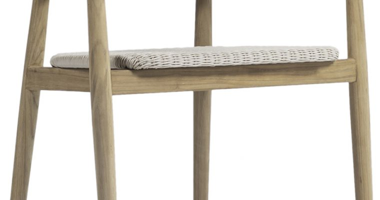 Vincent Sheppard Mona Dining Chair – Teak Tuinstoel – Old Lace Off White | 8720195953050