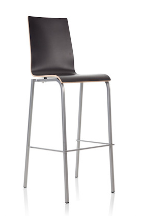 24Designs Barkruk Parma – Hoge Rug – Zithoogte 83 Cm – Antraciet | 8718692421639