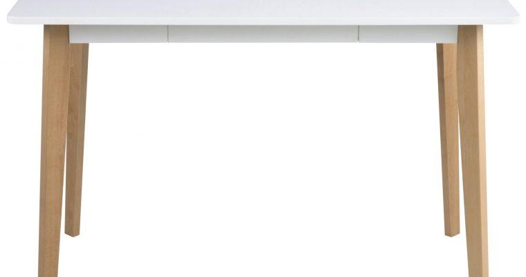 24Designs Ella Bureau – L117 X B58 X H75.5 Cm – Mat Wit Blad – Houten Poten | 8719172348460
